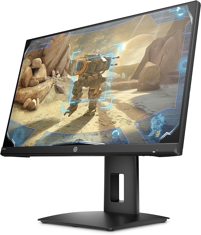 HP 24x AMD FreeSync, 1 x DisplayPort, 1 x HDMI, Reaktionszeit 1ms schwarz 23,8 Zoll // Full HD 144Hz Gaming Monitor