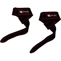 Dark Iron Fitness Weightlifting Leather Suede Lifting Wrist Straps Bundle for Men and Women - Wraps Weight for a Heavy…