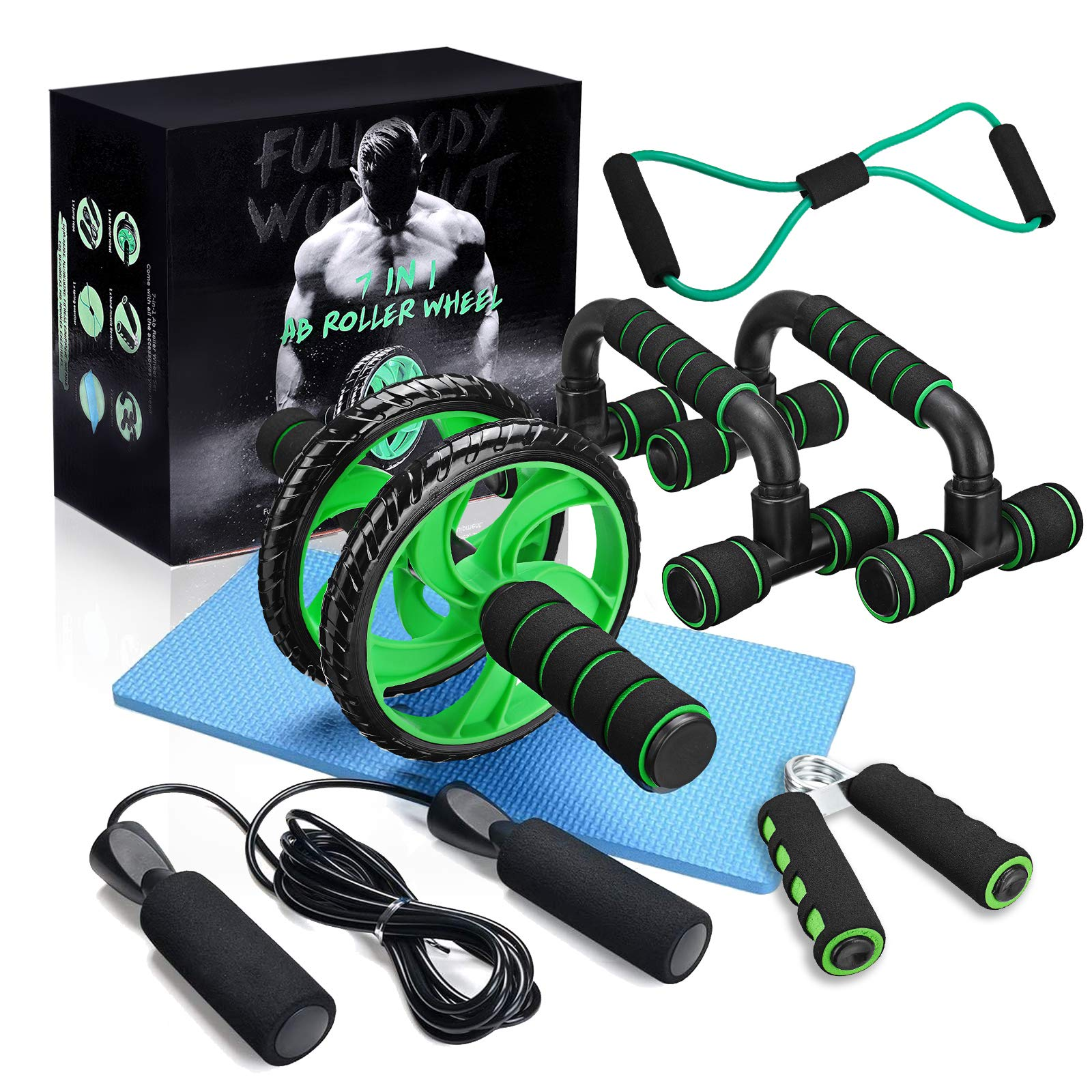 gracosy Sports Ab Roller Wheel 6-in-1 Ab Roller Kit with Yoga Mat