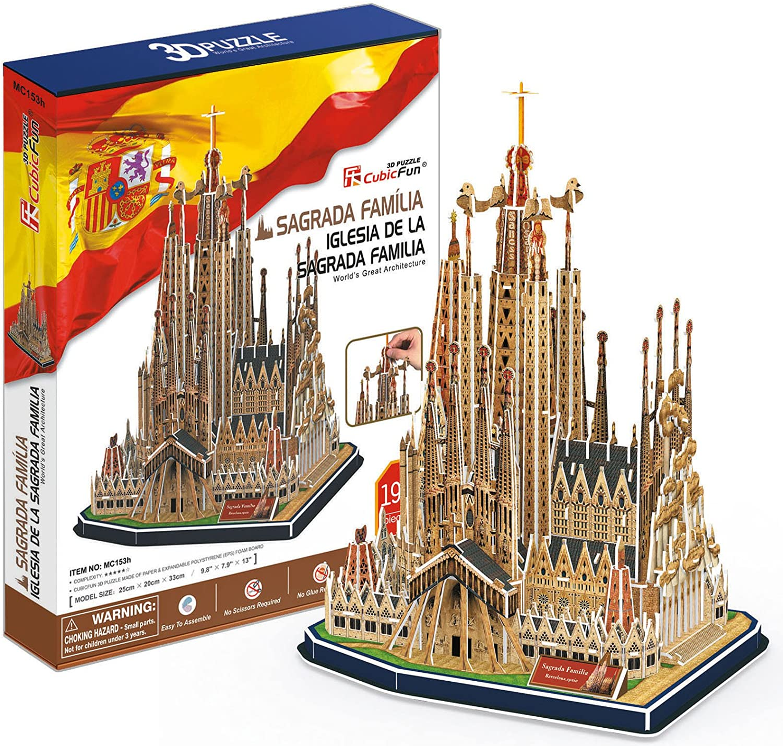 CubicFun- Puzzle 3D Sagrada Familia (CPA Toy Group Trading S.L. MC153H): Amazon.es: Juguetes y juegos