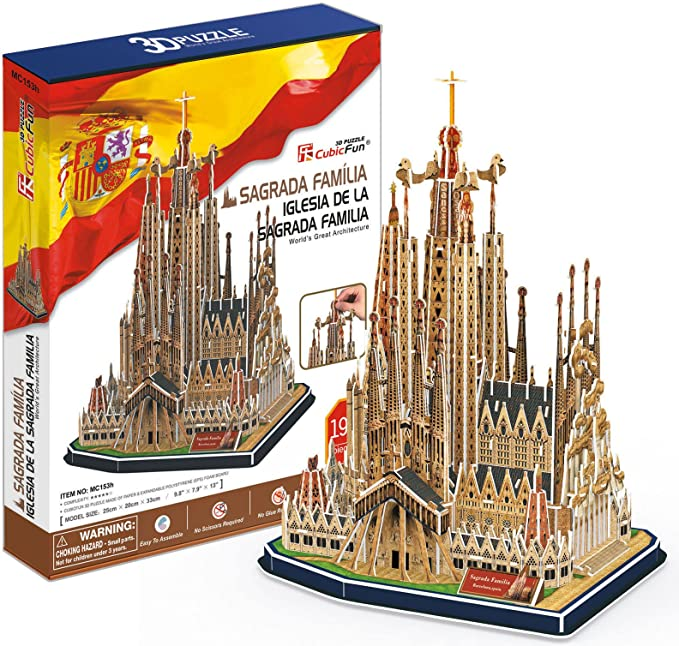 CubicFun- Puzzle 3D Sagrada Familia (CPA Toy Group Trading S.L. MC153): Amazon.es: Juguetes y juegos