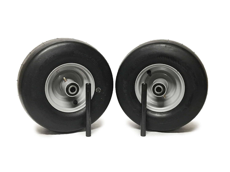 2 MowerPartsGroup Ferris Pneumatic Wheel Assemblies 13x6.50-6 Silver Replaces 5023279