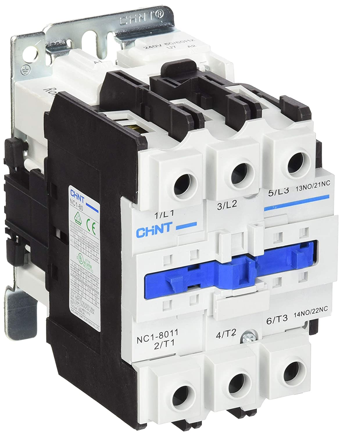 Chint NC1-8011-240V General Contactor, 240V, 80 A, AC3, 3 Main + 1 N/O and 1 N/C Aux Chint Europe (UK) Ltd