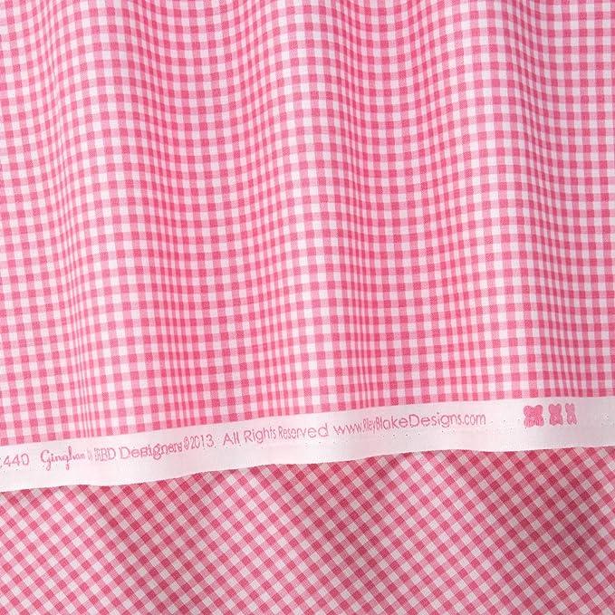 Basics Gingham Small Aqua par dépression récurrente Brève Designers 1//2 yard tissu de coton Riley Blake