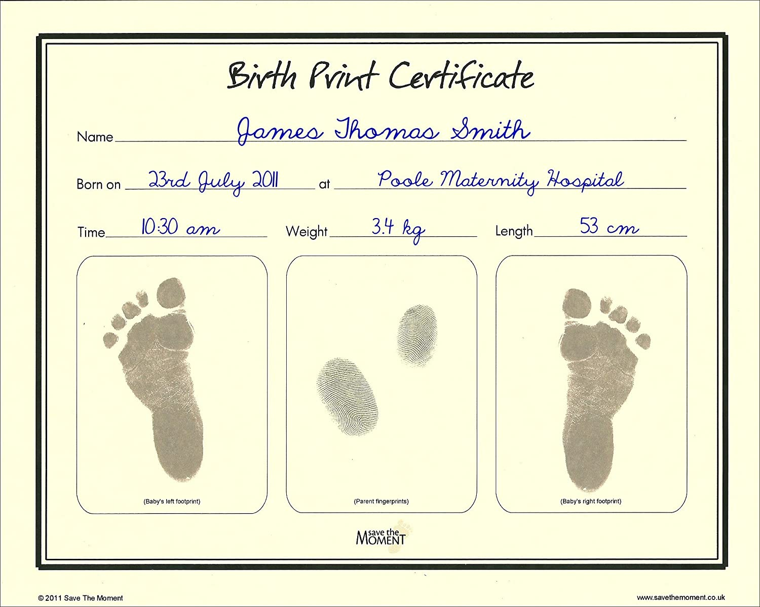 Amazon save the moment birth print certificate with inkless amazon save the moment birth print certificate with inkless footprint baby keepsake baby hand and footprint makers baby yadclub Image collections
