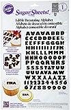 Wilton Black Alphabet, Pre-Cut Sugar Sheets Edible Decorating Paper
