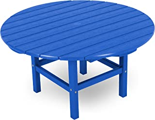product image for POLYWOOD Round 38-Inch Conversation Table, Pacific Blue
