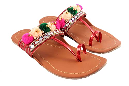 Details about  /kolhapuri slippers rajasthani slippers brown leather slippers slippers canada