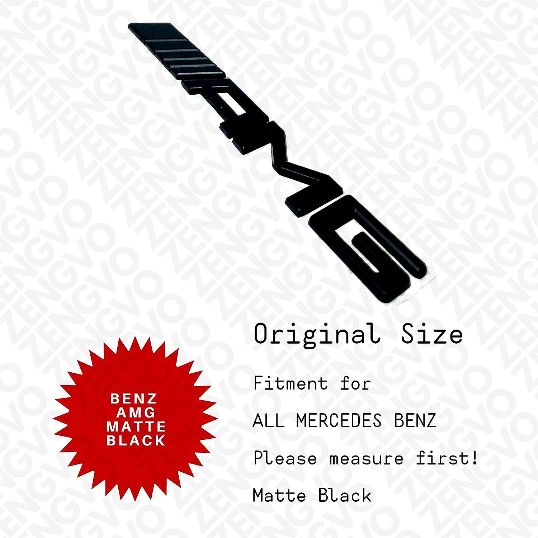ZENGVO MATTE BLACK CLA180 CLA200 CLA220 CLA250 CLA45 CDI // 4 MATIC AMG SPORT only glossy BLUE EFFICIENCY B160 B180 B200 B220 B250 ML250 ML350 ML400 ML550 ML63 G50 Car Emblem Badge Stickers Decals 3M Letters Logo Universal Fitment FOR Benz AMG pack of 1