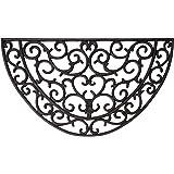 Esschert Design  Esschert Design, Rubber doormat halfround 68x40cm, RB04, Rubber, 67x38x1,5 -