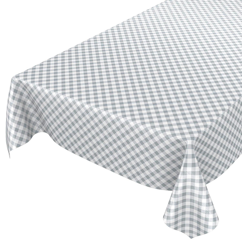 Mantel de hule encerado a cuadros lavable para mesa, toalla, gris ...