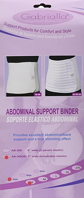 Amazon.com: GABRIALLA Abdominal Binder for Women, Stomach Wrap Band, 9 Inch Wide Belly Compression Support Belt for Post Surgery, Postpartum, C Section, ...