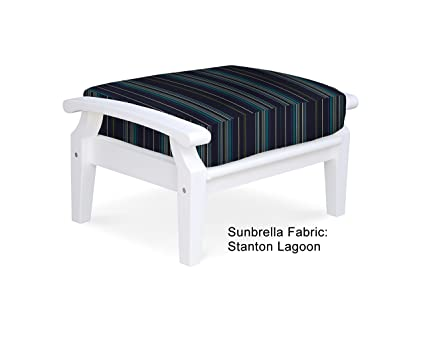 Cool Amazon Com Douglas Nance Cayman White Ottoman Stanton Creativecarmelina Interior Chair Design Creativecarmelinacom