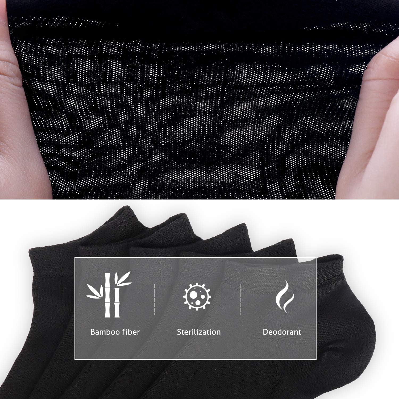 SERISIMPLE Bamboo Ankle Socks Women Chaussette l/ég/ère Chaussette respirante r/ésistante aux odeurs Low Cut 5 paires
