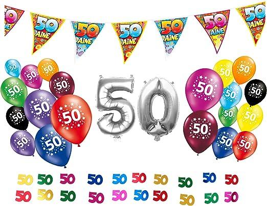 Pack decorativo para 50.º cumpleaños: Amazon.es: Hogar