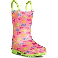 zoogs 雨靴男孩 & 适合–鲨鱼 rainboot 拉把手