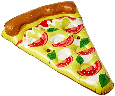 Floatie Kings Pizza Flotador de Piscina - Inflable Gigante