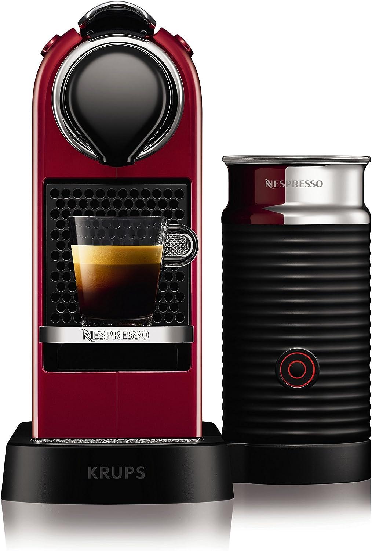Krups yy2730fd Nespresso Citiz espumador de leche rojo: Amazon.es ...