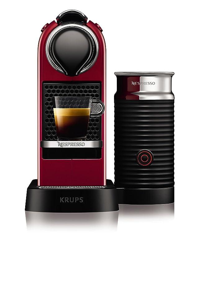 Krups YY2730FD Nespresso Citiz Mousseur à Lait Rouge: Amazon.fr ...