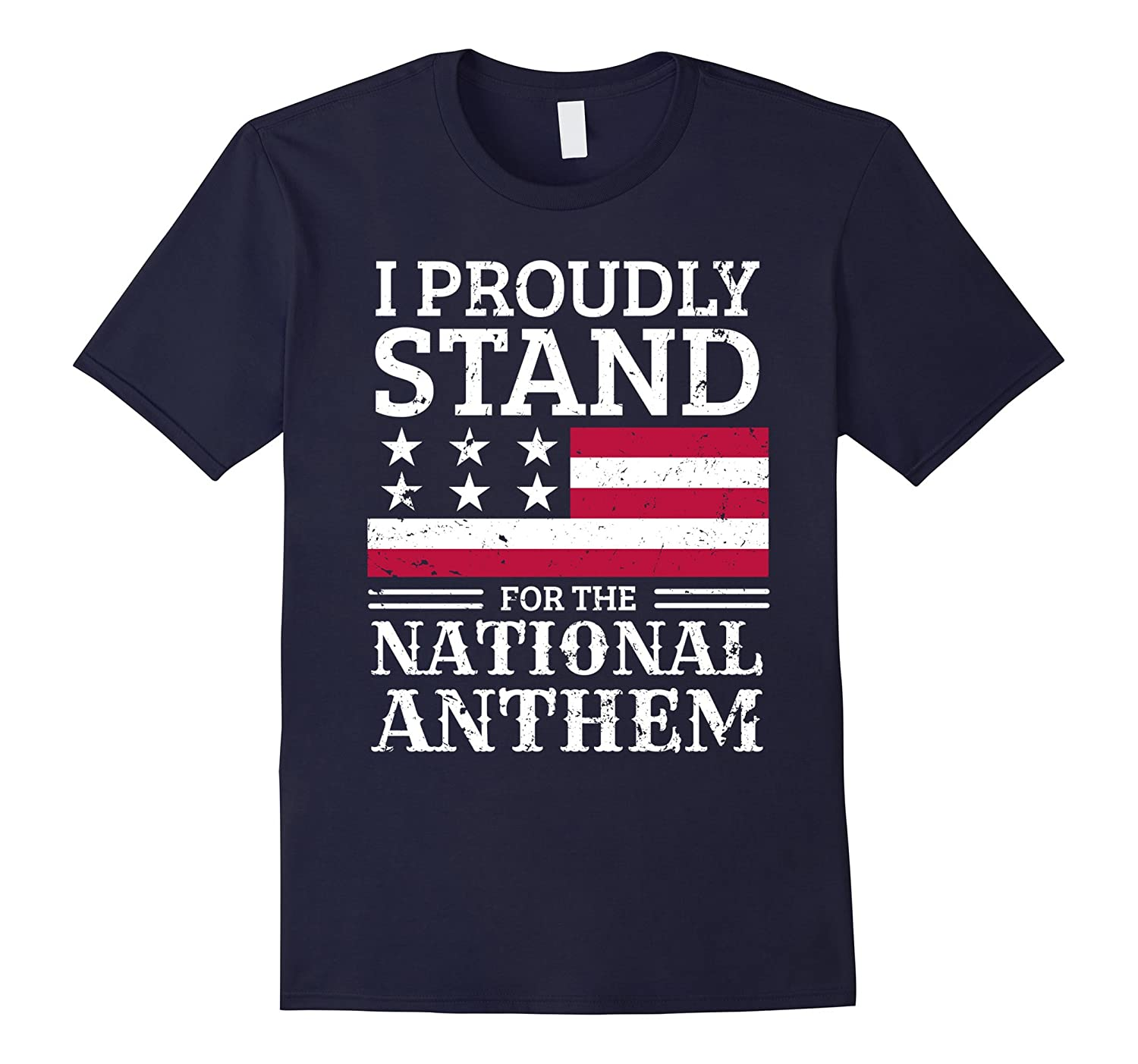 #TAKETHEKNEE I Proudly Stand For The National Anthem T-Shirt-T-Shirt