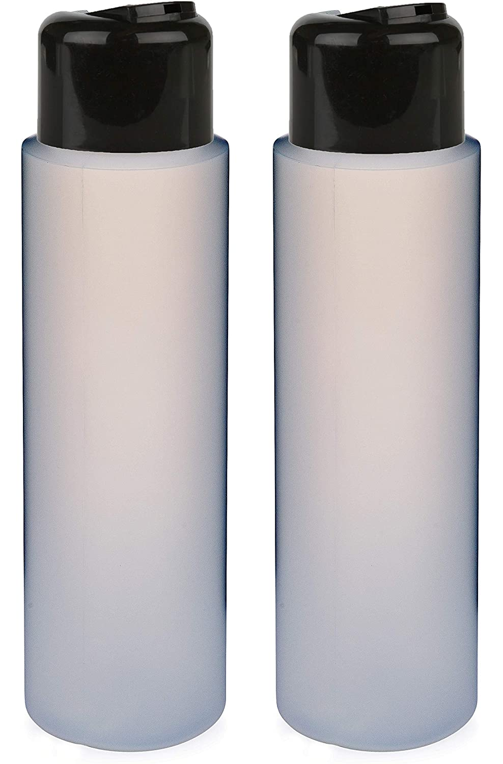 2 Pack Refillable 16 Ounce HDPE Squeeze Bottles With Stand On The Cap Dispenser Tops–Great For Lotions, Shampoos, Conditioners and Massage Oils From Earth s Essentials BLACK CAP