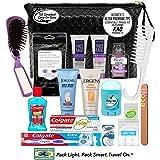 Convenience Kits International, Women's Premium 17Piece Assembled Travel Kit Featuring: John Frieda'S Frizz Ease, Jergens & Biore Products In Reusable Bag, 3 Fl Oz