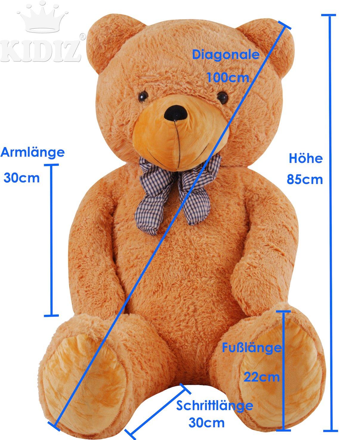 KIDIZ® XXL Teddybär - 210cm, dunkelbraun ✓ Super kuschelig ...
