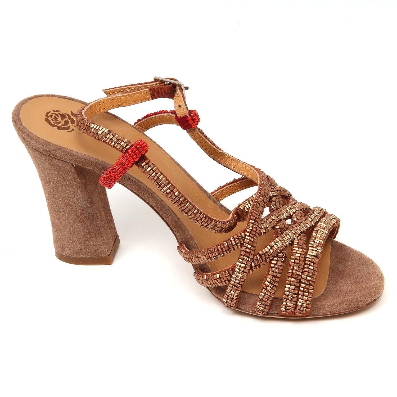D0698 sandalo donna MALIPARMI VREELAND scarpe perline bronzo shoe woman [36] 2t585xtR