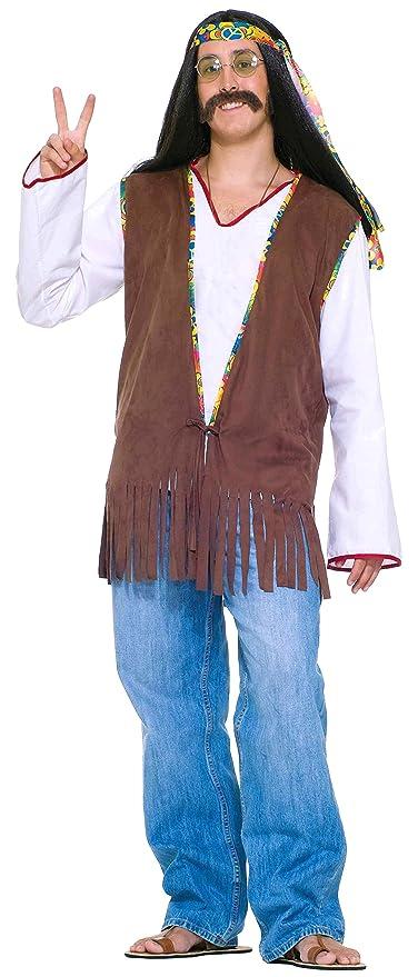 1960s Men's Costumes  Mens Generation Hippie Costume Vest $12.20 AT vintagedancer.com
