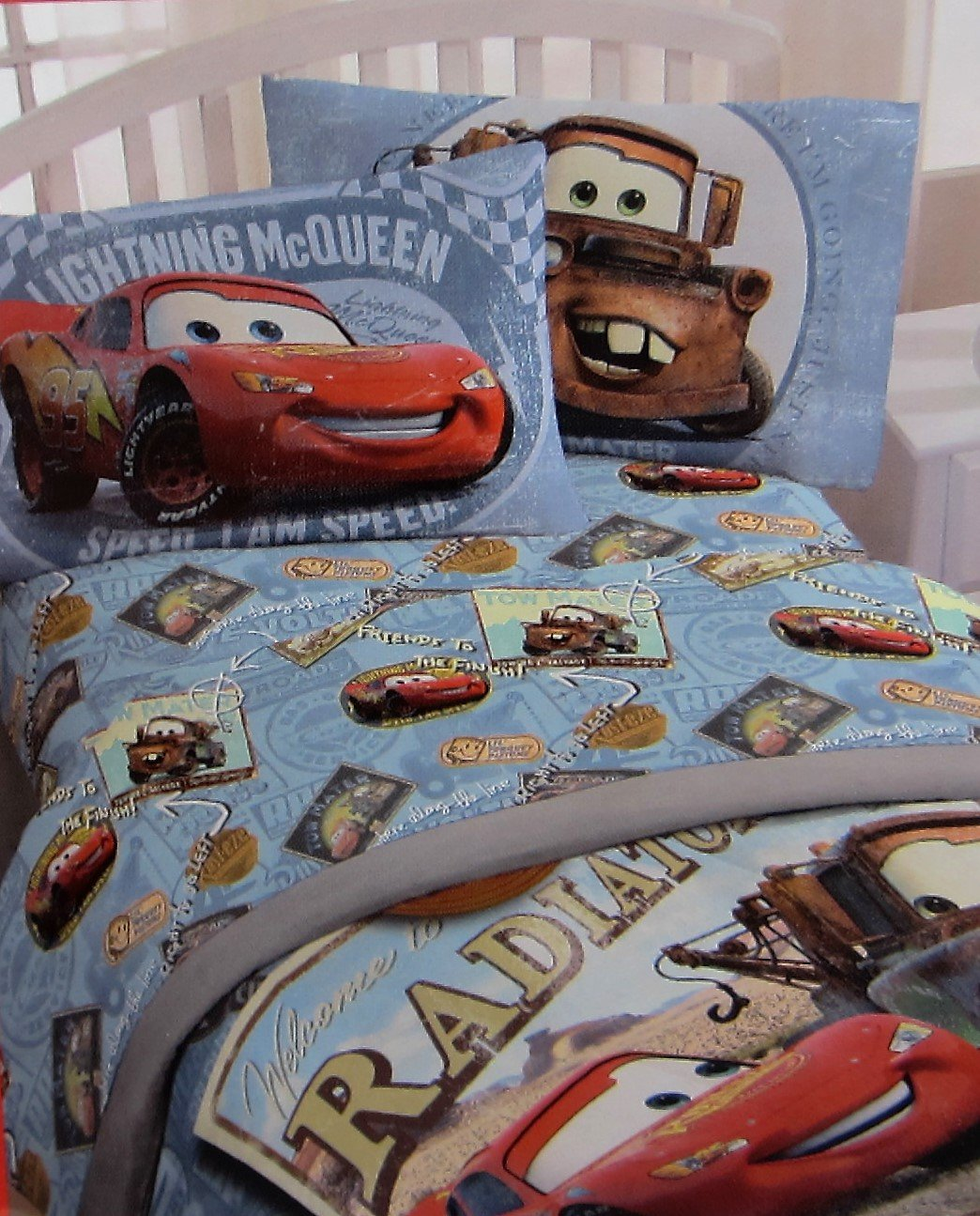 Pixar Lightning McQueen I Am Speed 100% Polyester (FITTED SHEET ONLY) Size FULL Boys Girls Kids Bedding by Jay Franco