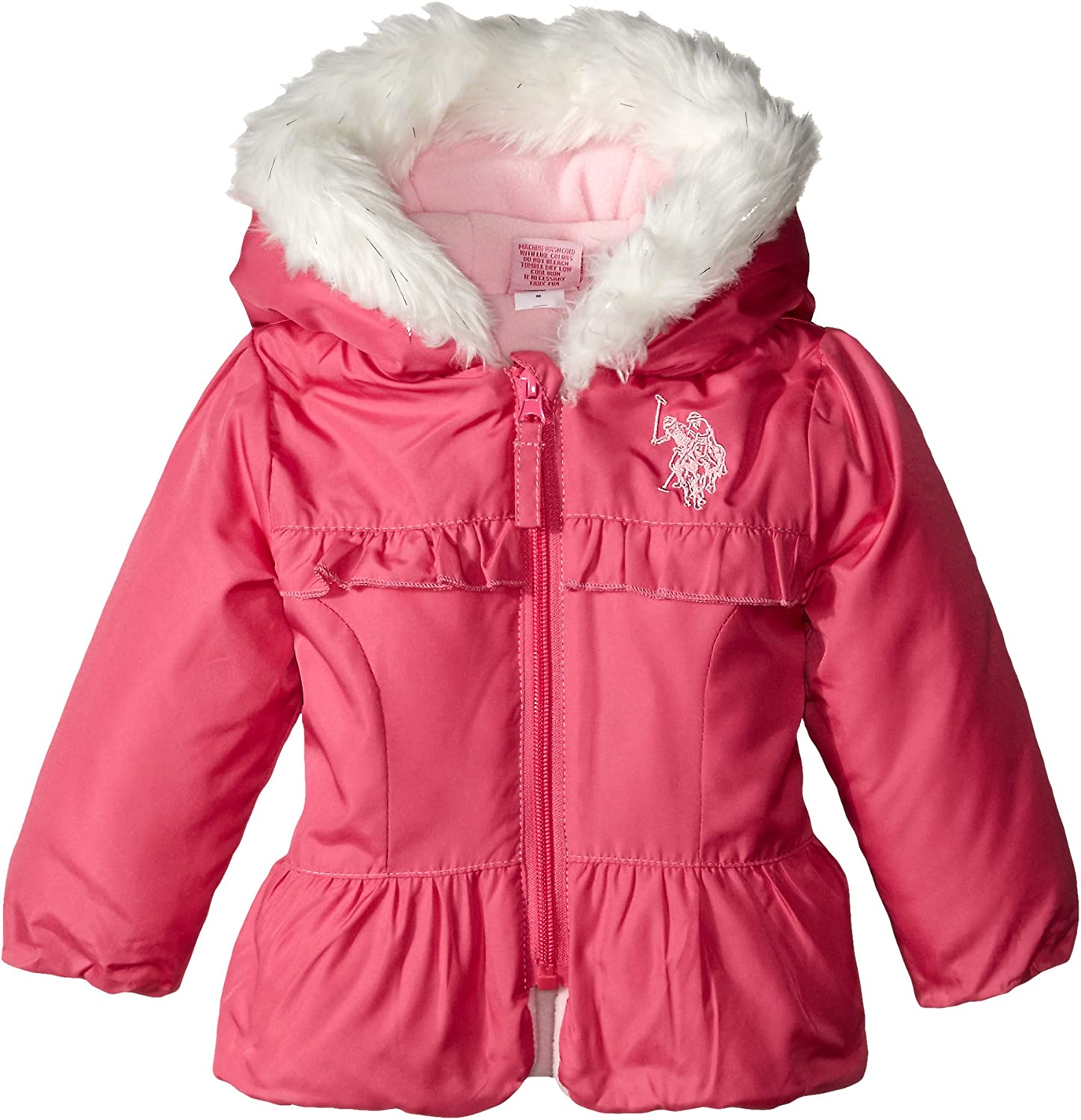 Sizes Baby-Big Polo Assn Girls Bubble Jacket U.S More Styles