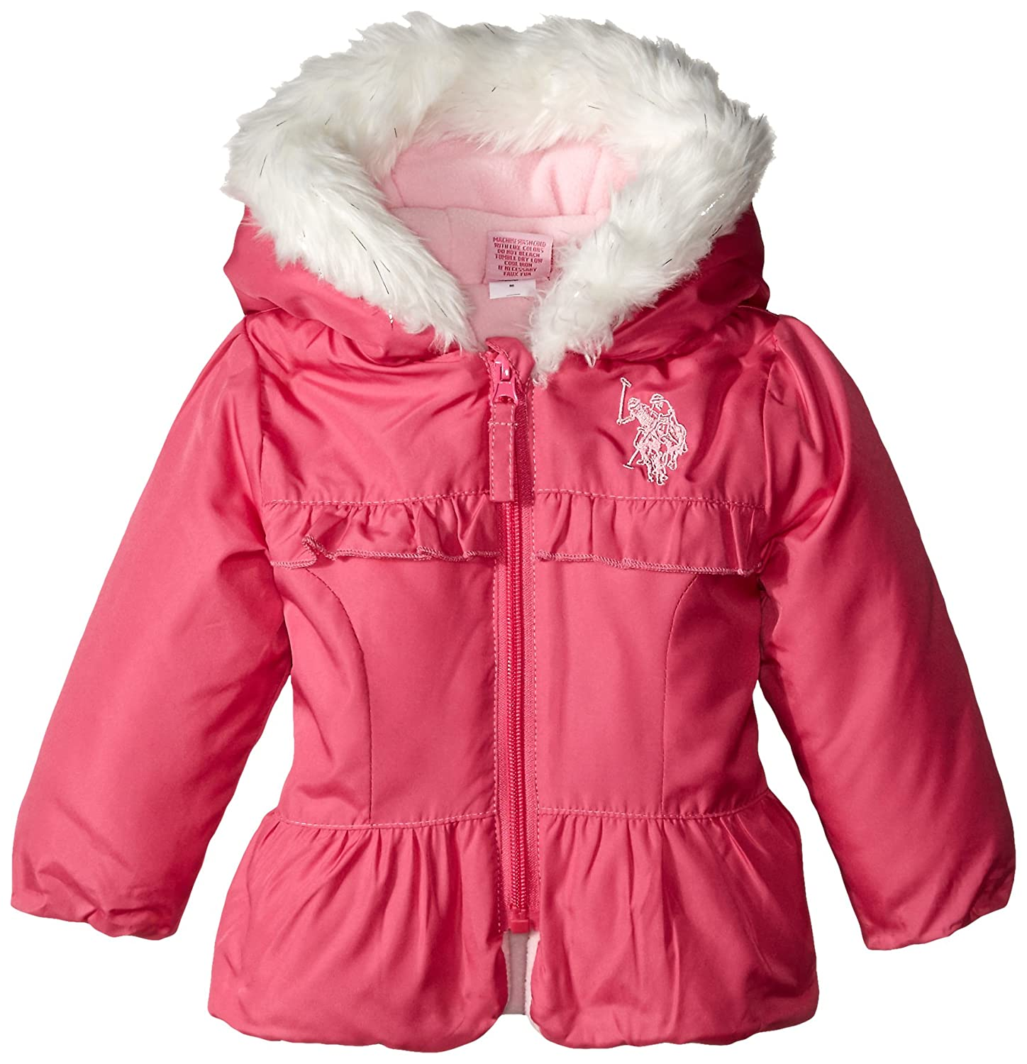 U.S Sizes Baby-Big Girls Bubble Jacket More Styles Polo Assn