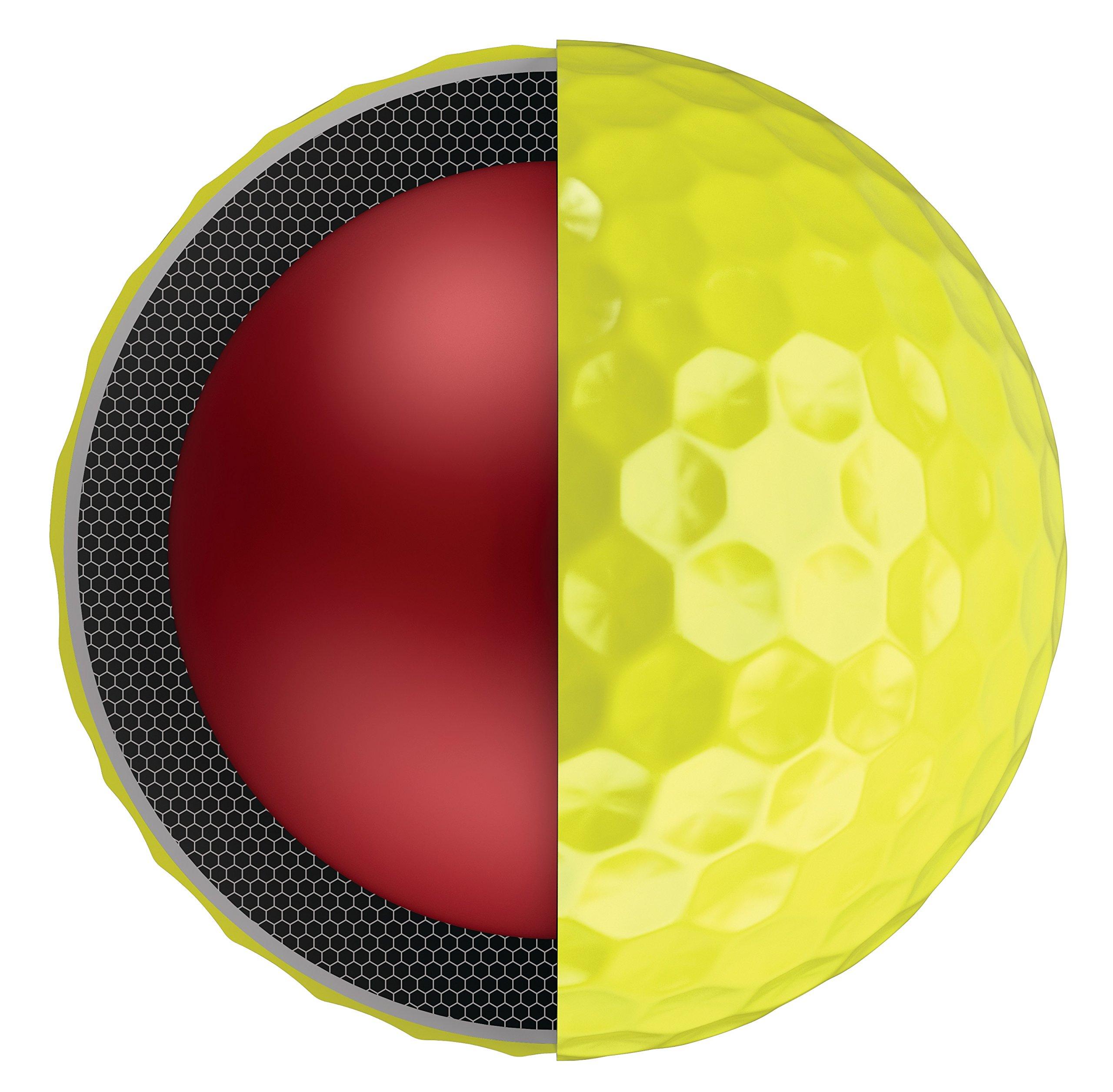 Callaway Golf Chrome Soft Golf Balls, (One Dozen), Yellow by Callaway