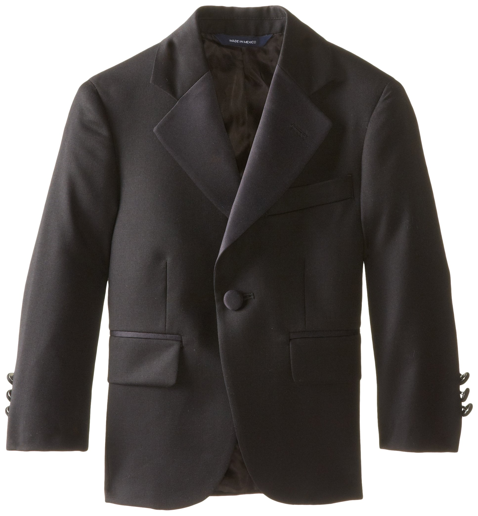 Brooks Brothers Little Boys' New Tux Jacket Single Button , Black, 6 by Brooks Brothers