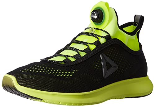 972e0fc7f56 Reebok Men s Pump Plus Tech Solar Yellow and Black Running Shoes - 10  UK India
