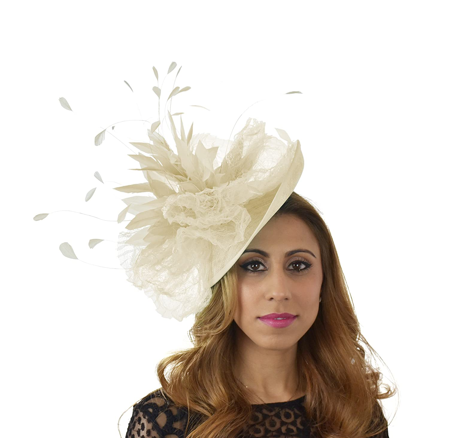 Gorgeous Kuribi Army Green Ascot Derby Fascinator Hat - With Headband at Amazon  Women s Clothing store  b445f7399e49