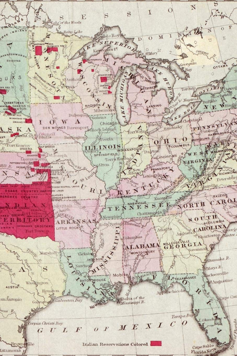 Amazon.com: Map showing the location of the Indian [Native American ...