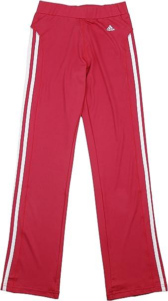 adidas Big Girls Yoga Pants with Stripes