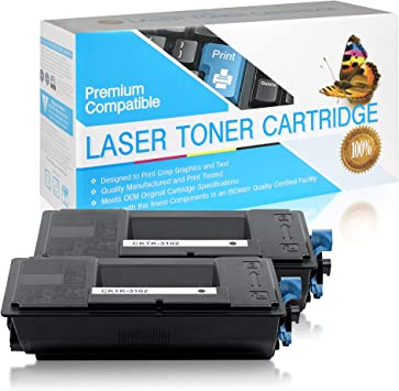 Black,1 Pack TK3102 USA Advantage Compatible Toner Cartridge Replacement for Kyocera Mita TK-3102 1T02MS0US0