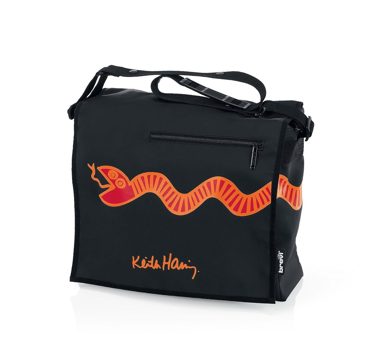Brevi 026KH Keith Haring 258 Borsa Fasciatoio, Black 8011250026582