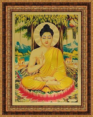 amazon lord buddha釈迦 5x7 inch gfb 548 仏像 オンライン通販