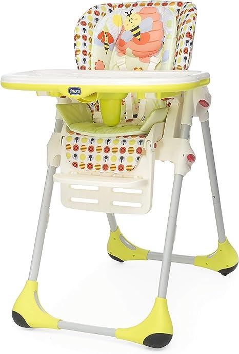 Trona 2 en 1 para ni/ños de 6 meses a 3 a/ños color amarillo compacta Chicco Polly 10 kg