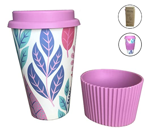 Vaso Café para Llevar Reutilizable Vaso de Cafe de Fibra de Bambu ...