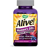 Nature's Way Alive! Women's 50+ Premium Gummy Multivitamin, Full B Vitamin Complex, 75 Gummies