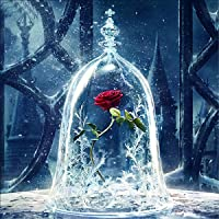 5D Diamond Painting DIY Full Drill Rhinestone Embroidery for Wall Decoration A Sleepy Rose 12X12 inches