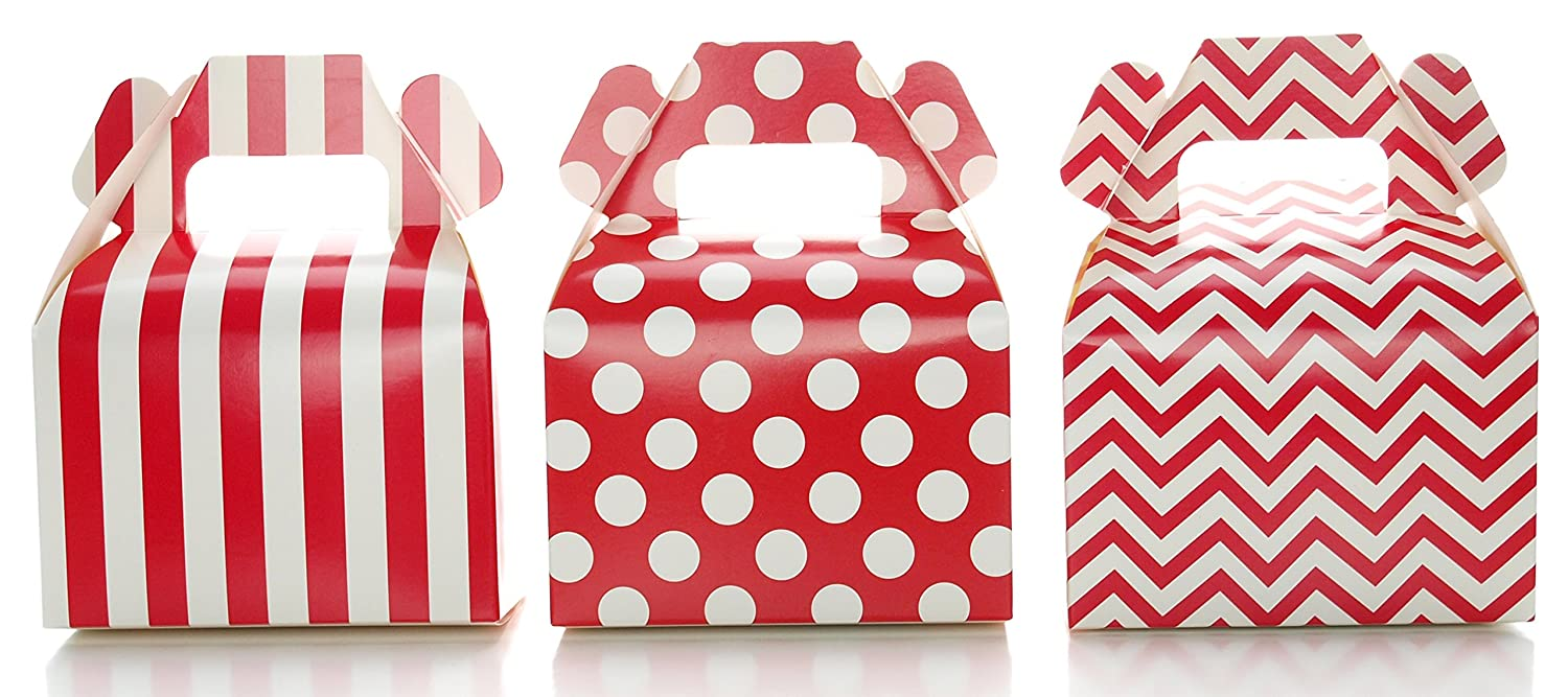 Amazon.com: Wedding Favor Boxes, Red Christmas Holiday Candy & Gift ...