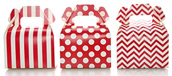 Amazon.com: Wedding Favor Boxes, Red Christmas Holiday Candy ...