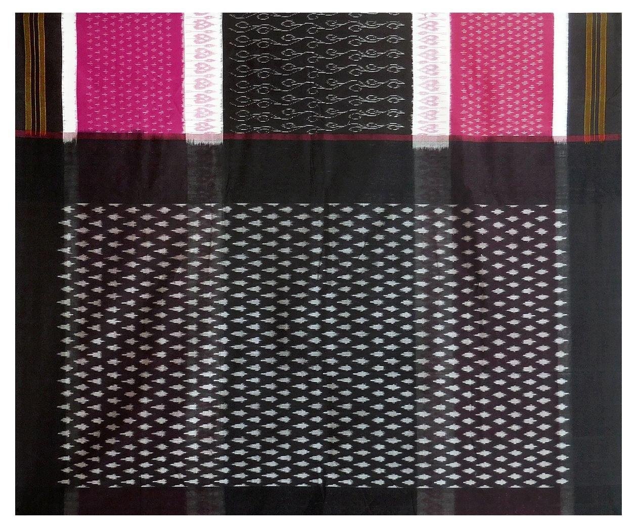DollsofIndia Ikkat Design on Orissa Cotton Saree (OX53) - Black, Red, White by DollsofIndia (Image #3)