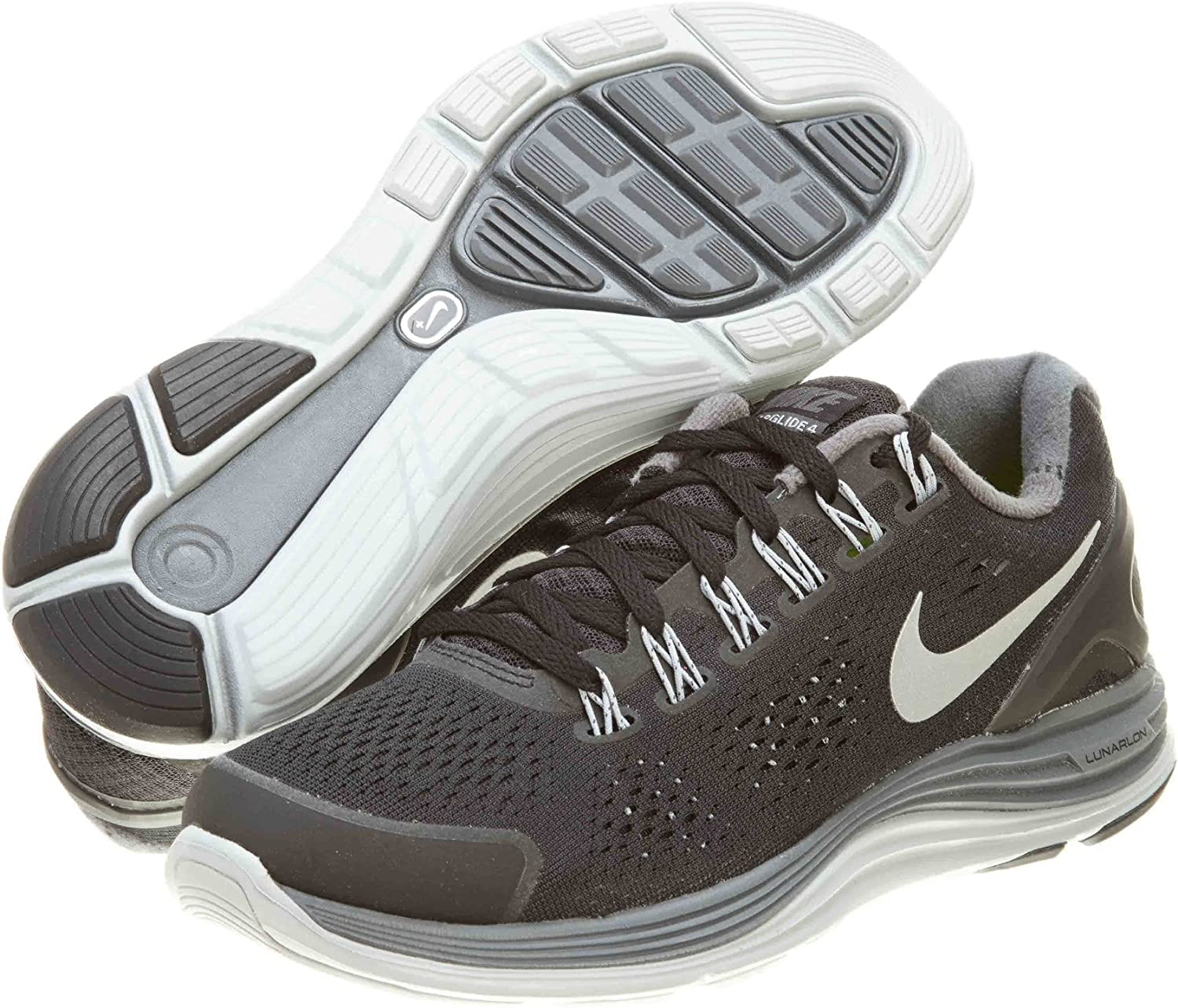 Nike Womens Lunarglide 4 Black Silver Grey 524978-001