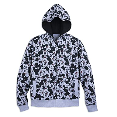 f857d7edf6e Amazon.com  Disney Mickey Mouse Hoodie for Men - Size Mens S Gray ...
